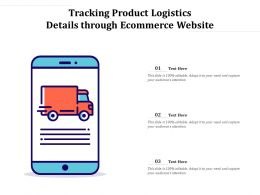 Tracking Product Logistics Details Through Ecommerce Website
