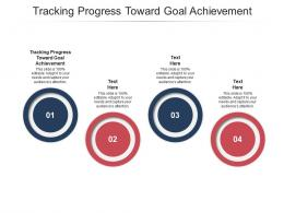 Tracking Progress Toward Goal Achievement Ppt Powerpoint Presentation Background Cpb