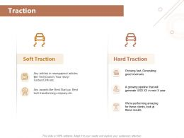 Traction Good Revenues Ppt Powerpoint Presentation Summary Example Topics