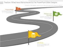 Traction What Have We Achieved So Far Powerpoint Slide Designs