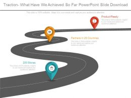 Traction What Have We Achieved So Far Powerpoint Slide Download