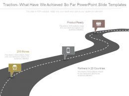 Traction What Have We Achieved So Far Powerpoint Slide Templates
