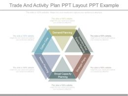 Trade And Activity Plan Ppt Layout Ppt Example