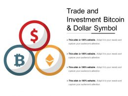 Trade And Investment Bitcoin And Dollar Symbol