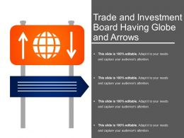 Trade And Investment Board Having Globe And Arrows
