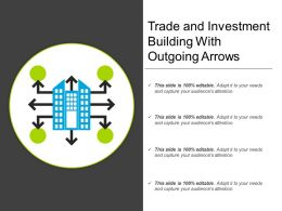 Trade And Investment Building With Outgoing Arrows