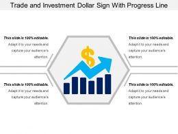 Trade And Investment Dollar Sign With Progress Line