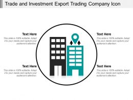 Trade And Investment Export Trading Company Icon