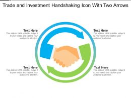 Trade And Investment Handshaking Icon With Two Arrows