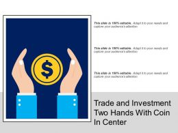 Trade And Investment Two Hands With Coin In Center