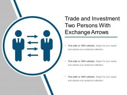 Trade And Investment Two Persons With Exchange Arrows