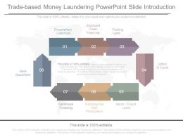 Trade Based Money Laundering Powerpoint Slide Introduction