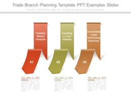 Trade Branch Planning Template Ppt Examples Slides