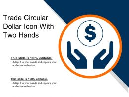 Trade Circular Dollar Icon With Two Hands