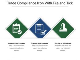 Trade Compliance Icon With File And Tick