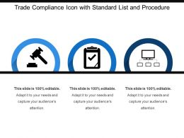 Trade Compliance Icon With Standard List And Procedure