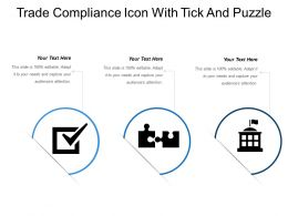 Trade Compliance Icon With Tick And Puzzle