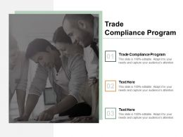 Trade Compliance Program Ppt Powerpoint Presentation Styles Slides Cpb