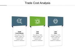 Trade Cost Analysis Ppt Powerpoint Presentation Show Guide Cpb