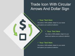 Trade Icon With Circular Arrows And Dollar Sign