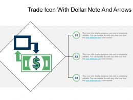 Trade Icon With Dollar Note And Arrows