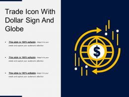 Trade Icon With Dollar Sign And Globe