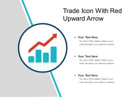 Trade Icon With Red Upward Arrow