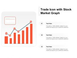 Trade Icon With Stock Market Graph