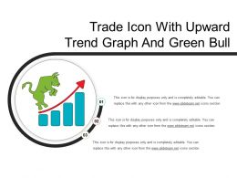 Trade Icon With Upward Trend Graph And Green Bull