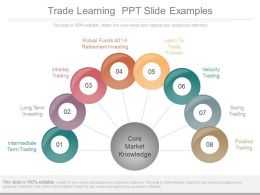 Trade Learning Ppt Slide Examples