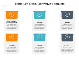 Trade Life Cycle Derivative Products Ppt Powerpoint Presentation Slides Cpb