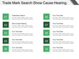 Trade Mark Search Show Cause Hearing Installation Problem
