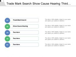 Trade Mark Search Show Cause Hearing Third Party Opposition