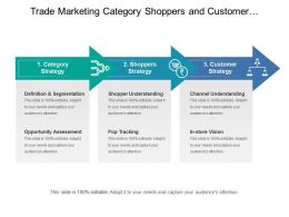 Trade Marketing Category Shoppers And Customer Strategy With Definition And Segmentation