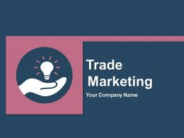 Trade Marketing Product Supply Finance Customer Service Organization Brand Marketing