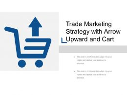 Trade Marketing Strategy With Arrow Upward And Cart