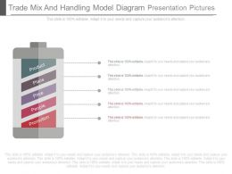 Trade Mix And Handling Model Diagram Presentation Pictures