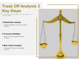 Trade Off Analysis 3 Key Steps