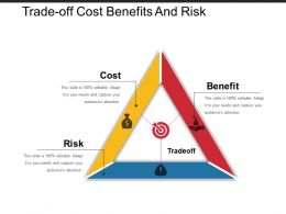 Trade Off Cost Benefits And Risk PPT Slide Design
