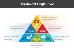 Trade Off High Low Ppt Slides Download