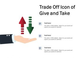 Trade Off Icon Of Give And Take