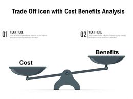 Trade Off Icon With Cost Benefits Analysis