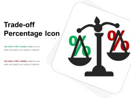 Trade Off Percentage Icon Ppt Summary
