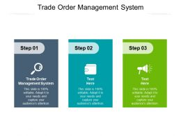 Trade Order Management System Ppt Powerpoint Presentation Layout Cpb
