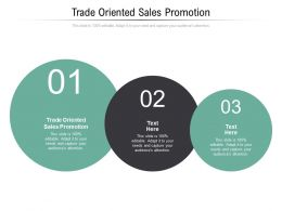 Trade Oriented Sales Promotion Ppt Powerpoint Presentation Pictures Icons Cpb