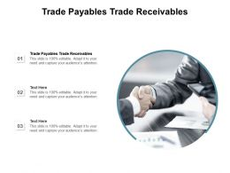 Trade Payables Trade Receivables Ppt Powerpoint Presentation Show Gallery Cpb