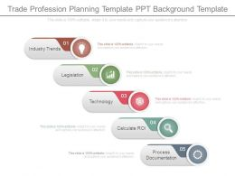 Trade Profession Planning Template Ppt Background Template