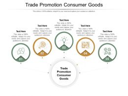 Trade Promotion Consumer Goods Ppt Powerpoint Presentation Pictures Gallery Cpb