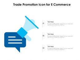 Trade Promotion Icon For E Commerce