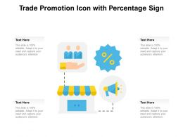 Trade Promotion Icon With Percentage Sign